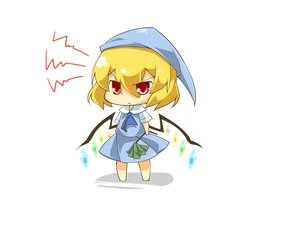Rating: Safe Score: 23 Tags: blonde_hair chibi flandre_scarlet haipa_okara hat red_eyes touhou vampire wings User: PAIIS