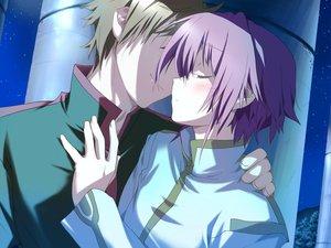 Rating: Safe Score: 4 Tags: blush favorite game_cg happy_margaret! kokonoka night purple_hair short_hair tsuwabuki_akira User: 秀悟