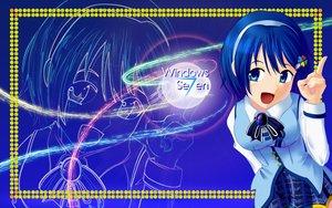Rating: Safe Score: 5 Tags: aqua_eyes blue blue_hair bow headband jpeg_artifacts madobe_nanami microsoft os-tan short_hair skirt windows zoom_layer User: Kumacuda