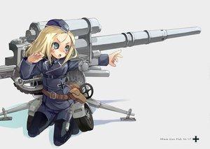 Rating: Safe Score: 31 Tags: blonde_hair mechagirl tagme uniform weapon User: Oyashiro-sama
