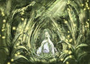 Rating: Safe Score: 64 Tags: dress forest kotokoto mushishi tagme_(character) tree white_hair User: HawthorneKitty