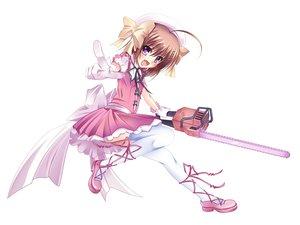 Rating: Safe Score: 66 Tags: dress haruna_(kore_wa_zombie_desu_ka?) hat kore_wa_zombie_desu_ka? pass-d purple_eyes thighhighs weapon white User: HawthorneKitty