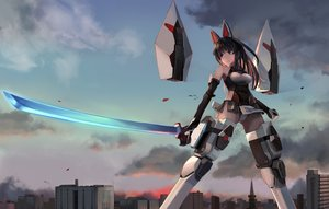 Rating: Safe Score: 44 Tags: agatsuma_kaede alice_gear_aegis animal animal_ears armor bird brown_eyes brown_hair building city clouds elbow_gloves gloves mechagirl panties ponytail scenic sky sunga2usagi sword underwear weapon User: BattlequeenYume