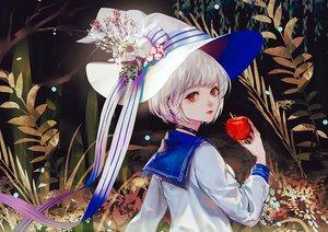 Rating: Safe Score: 32 Tags: apple choker flowers food fruit hat original ribbons say_hana seifuku short_hair skull waifu2x white_hair witch_hat User: otaku_emmy