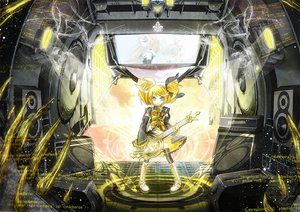 Rating: Safe Score: 40 Tags: 218 blonde_hair blue_eyes guitar instrument kagamine_rin vocaloid User: HawthorneKitty