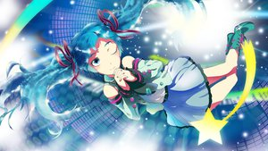 Rating: Safe Score: 35 Tags: hatsune_miku sinzan vocaloid wink User: FormX