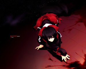 Rating: Safe Score: 39 Tags: black_hair blood blood_(anime) brown_eyes otonashi_saya short_hair stars User: Oyashiro-sama