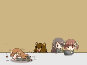 Rating: Safe Score: 25 Tags: 2ch animal bear brown chibi computer fukuzawa_yumi jpeg_artifacts maria-sama_ga_miteru ogasawara_sachiko pedobear toudou_shimako User: Oyashiro-sama