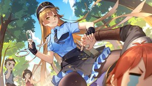 Rating: Safe Score: 50 Tags: blonde_hair crying daye_bie_qia_lian gloves green_eyes group hat loli long_hair male orange_hair police police_uniform romantic_saga_of_beauty_&_devil shackles short_hair skirt tagme_(character) tears tie tree User: luckyluna
