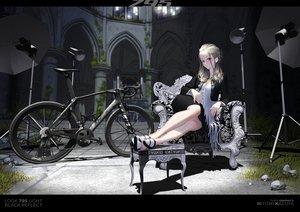 Rating: Safe Score: 4 Tags: bicycle dress gray_hair hitomi_kazuya long_hair original red_eyes signed User: gnarf1975
