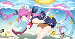 Rating: Safe Score: 93 Tags: animal fish hololive long_hair minato_aqua swimsuit thighhighs twintails underwater water wucanming User: Dreista