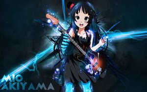 Rating: Safe Score: 66 Tags: akiyama_mio black_eyes black_hair blackrose14344 dress guitar headdress instrument k-on! long_hair watermark User: ssagwp