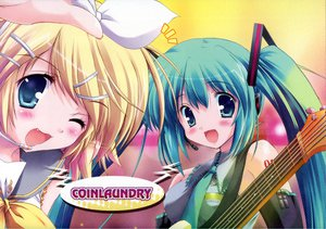 Rating: Safe Score: 25 Tags: hatsune_miku kagamine_rin maruchan vocaloid User: 秀悟