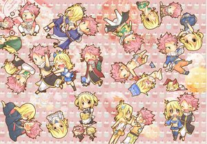 Rating: Safe Score: 8 Tags: bikini blonde_hair blush breasts chibi dress fairy_tail fang green_eyes headdress japanese_clothes kneehighs long_hair lucy_heartfilia maid male natsu_dragneel navel pink_hair short_hair shorts skirt swimsuit tagme_(artist) tattoo tears thighhighs wink User: RyuZU