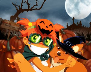 Rating: Safe Score: 15 Tags: animal cosplay cowboy_bebop dog edward_wong_hau_pepelu_tivrusky_iv ein_(cowboy_bebop) goggles halloween hat orange_hair short_hair twintails witch User: Oyashiro-sama