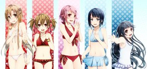 Rating: Safe Score: 140 Tags: ayano_keiko bikini kirinin navel shinozaki_rika swimsuit sword_art_online tagme yuuki_asuna User: Wiresetc