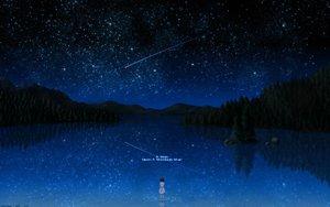 Rating: Safe Score: 155 Tags: darker_than_black night pai scenic signed sky stars tree water User: Tensa