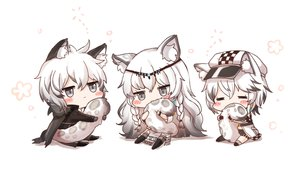 Rating: Safe Score: 67 Tags: animal_ears arknights blush braids cape catboy catgirl chibi cliffheart_(arknights) gray_eyes hat honyang long_hair male pramanix_(arknights) short_hair silverash_(arknights) tail white white_hair User: BattlequeenYume