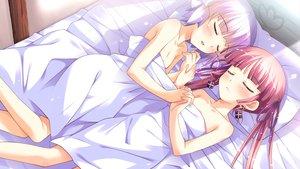 Rating: Questionable Score: 108 Tags: 2girls bed game_cg ko~cha loli minette miriam shukufuku_no_campanella sleeping windmill_oasis User: Wiresetc