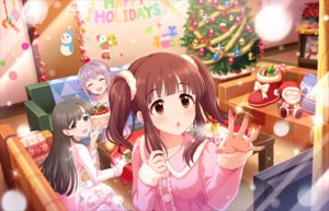 Rating: Safe Score: 14 Tags: annin_doufu brown_eyes brown_hair cake cat_smile christmas couch food fruit gray_eyes gray_hair idolmaster idolmaster_cinderella_girls idolmaster_cinderella_girls_starlight_stage koshimizu_sachiko long_hair ogata_chieri short_hair snow strawberry tagme_(character) tree twintails User: luckyluna