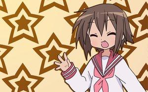 Rating: Safe Score: 3 Tags: brown_hair fang kusakabe_misao lucky_star school_uniform User: Oyashiro-sama