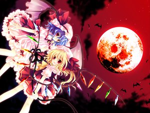 Rating: Safe Score: 27 Tags: flandre_scarlet moon remilia_scarlet sky touhou User: Eruku