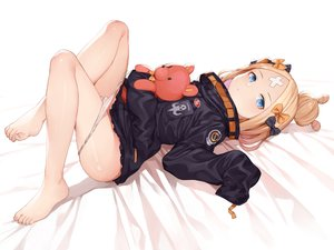 Rating: Questionable Score: 170 Tags: abigail_williams_(fate/grand_order) bandaid barefoot blonde_hair blue_eyes bow fate/grand_order fate_(series) loli long_hair panties panty_pull popoccpo teddy_bear underwear User: BattlequeenYume