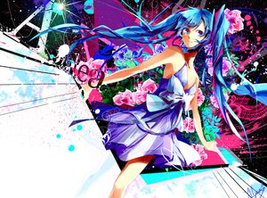 Rating: Safe Score: 49 Tags: alyssa718 blue_eyes blue_hair dress flowers hatsune_miku signed twintails vocaloid User: humanpinka