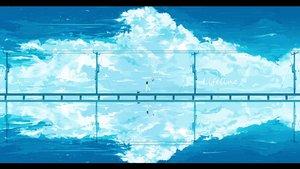 Rating: Safe Score: 45 Tags: animal cat clouds dress hat lifeline original reflection sky summer_dress water watermark User: RyuZU