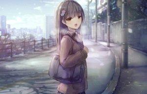 Rating: Safe Score: 18 Tags: apple228 brown_eyes brown_hair clouds landscape long_hair original scenic seifuku skirt sky snow winter User: RyuZU