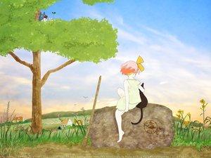 Rating: Safe Score: 12 Tags: animal cat jiji_(character) kiki majo_no_takkyuubin pink_hair User: Kulag