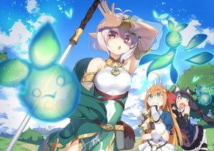 Rating: Safe Score: 52 Tags: ayataka building clouds food gray_hair karyl natsume_kokoro pecorine pointed_ears princess_connect! short_hair signed sky sword twintails weapon User: BattlequeenYume