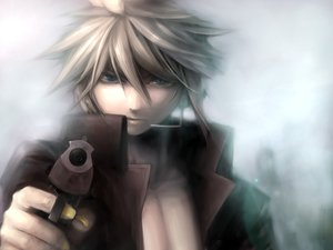 Rating: Safe Score: 32 Tags: blonde_hair blue_eyes gun headphones kagamine_len male short_hair vocaloid weapon User: HawthorneKitty