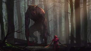 Rating: Safe Score: 212 Tags: animal big_bad_wolf blood forest hoodie kaatoso little_red_riding_hood red_riding_hood sword tree weapon wolf User: Flandre93