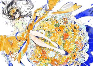Rating: Safe Score: 46 Tags: dress flowers original ribbons umishima_senbon User: RyuZU