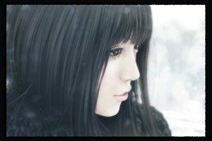 Rating: Safe Score: 60 Tags: black_eyes black_hair close kinoebi long_hair original realistic User: FormX