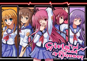 Rating: Safe Score: 56 Tags: angel_beats! hisako irie_miyuki iwasawa_masami pink_hair purple_hair rayhwang red_hair school_uniform sekine_shiori yui_(angel_beats!) User: HawthorneKitty