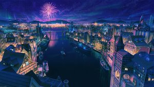 Rating: Safe Score: 33 Tags: arsenixc boat building city fireworks night nobody original reflection scenic water watermark User: RyuZU