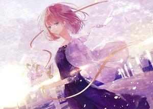 Rating: Safe Score: 20 Tags: flowers original petals red_hair seikai_meguru short_hair User: FormX