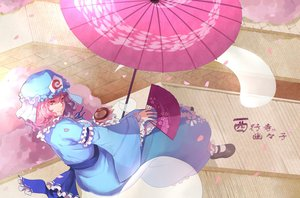 Rating: Safe Score: 54 Tags: greetload pink_eyes pink_hair saigyouji_yuyuko touhou umbrella User: Zolxys