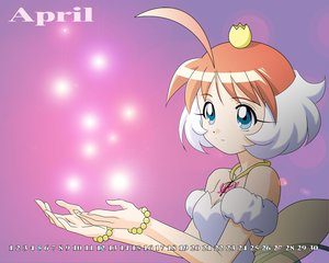 Rating: Safe Score: 6 Tags: ahiru blue_eyes calendar crown dress necklace orange_hair princess_tutu short_hair wings User: Oyashiro-sama