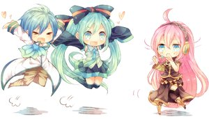 Rating: Safe Score: 59 Tags: blue_eyes hatsune_miku kaito megurine_luka niwako vocaloid User: FormX