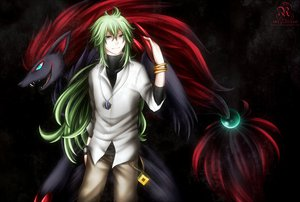 Rating: Safe Score: 48 Tags: blue_eyes green_hair long_hair n pokemon zoroark User: LastZephyr