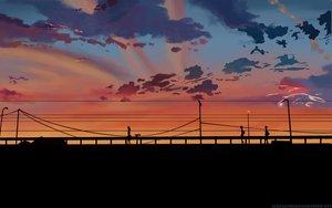 Rating: Safe Score: 42 Tags: byousoku_5_centimetre clouds scenic shinkai_makoto sky sunset User: atlantiza