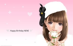 Rating: Safe Score: 35 Tags: anegasaki_nene brown_hair flowers hat love_plus mino_taro rose User: Wiresetc