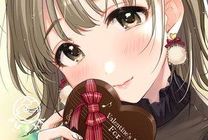 Rating: Safe Score: 26 Tags: blush brown_eyes brown_hair chocolate close original tsukana_(saba_mizore) valentine waifu2x watermark User: RyuZU