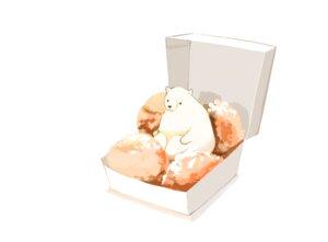 Rating: Safe Score: 23 Tags: animal bear chai_(artist) food nobody original polychromatic signed white User: otaku_emmy