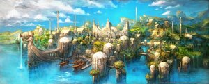 Rating: Safe Score: 14 Tags: building city final_fantasy final_fantasy_xiv scenic square_enix water watermark User: SciFi