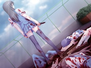Rating: Questionable Score: 26 Tags: blood cross_channel game_cg matsuryuu User: xararx