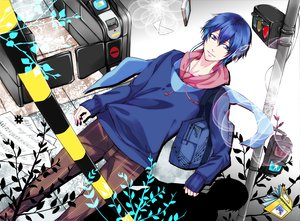 Rating: Safe Score: 25 Tags: book headphones kaito sakumaryu scarf vocaloid User: HawthorneKitty